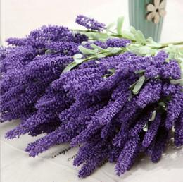 Wholesale 12pcs Provence lavender flowers artificial plants artificial flower decoration flower silk flower simulation