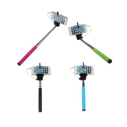 Cable Wired Selfie Sticks Extendable Handheld Monopod And Play Cable Take Pole Wired For iPhone 5s 6 PLUS Note4