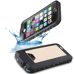 Wholesale 4300mAh Power Bank waterproof Shockproof Case cover backup battery For Iphone s ham for iphone6 plus life water proof Cover