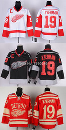 Factory Outlet, Cheap Detroit Red Wings Jersey 19 Steve Yzerman Jersey New Red Wholesale Third Black Ice Hockey Jerseys China