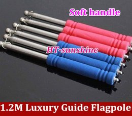 Wholesale m Lighter type SOFT handle stainless steel telescopic guide flagpole order lt no track