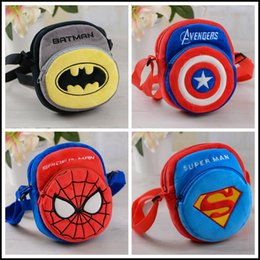 Wholesale The avengers gift kids Spider man Plush Bag Baby Cartoon Superman Batman Shoulder Bag Child s fashion backpack MOQ free ship SVS0256