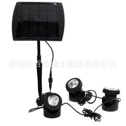 18 LED Solar Lamp Solar-Powered Spotlight Panel Garden Pool Pond Yard Spot Light Colorful ultra-bright RGB