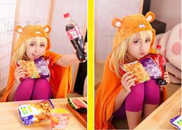 Wholesale Sankaku Head Himouto Umaru chan Umaru Doma Cosplay Costumes MARMOT Air Conditioning Blanket Orange cute Cloak Cape
