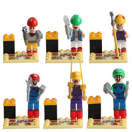 Wholesale New Condition Super mario bros Kid Baby Toy Mini Figure Building Blocks Sets Model Minifigures Brick kids toy gift educational toy