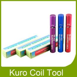 Mejor rba en venta-Mejores Conceptos Kuro Kuro Koiler Coil Jig para Herramienta que arrolla e cigarrillo RDA RBA alambre atomizador Coil Herramienta Envoltura Coiler DHL libre 0213082