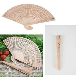Wholesale Chinese Oriental Elegant Sandalwood Wooden Hollow Hand Fan Gift Part Wedding Brand New Good Quality