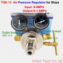 Wholesale For Ship Boat Air gas pressure regulating valve reducer YQK Air Pressure Regulator IN MPA OUT Mpa