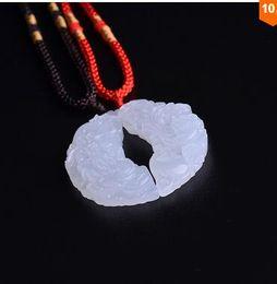 Lovers jade jewelry 100% Natural white JADE Necklace Pendant Jade Pendant Necklace Jade Stone Womens Jewelry Mens jewelry