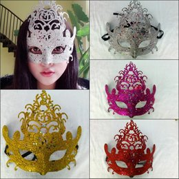 Wholesale New Cheap Mask Simple Power Princess Crown Mask Dance Prom Mask Half Mask Dance Party Mask