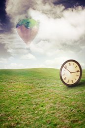 Wholesale New arrival Background fundo Cloud hot air balloon clock feet length with feet width backgrounds LK
