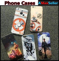 Wholesale Star Wars Transparent Cases TPU Cartoon Grind Arenaceous in Phone Protect Shell Aliens Soft Back Cover For iPhone s s Plus Cases