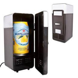 Wholesale MINI Portable USB PC Fridge Car Refrigerator Heater Beer Juice Warmer Cooler with LED Indicator