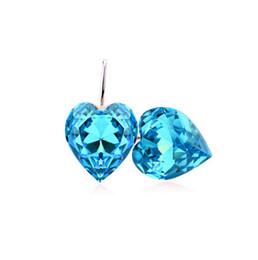 Factory Dircet Selling Heart Stud Earrings Fashion Austria Crystal Double Heart Earrings For Women Jewelry A86