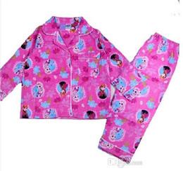 New Winter Cartoon Suits Girls Frozen Pajamas Baby Princess Pijamas Kids frozen Printed Sleepwears Child Clothing set