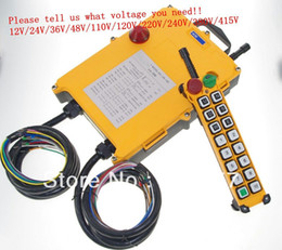 Wholesale 16 Channels Speed Transmitters Hoist Crane Truck Radio Remote Control System with E Stop Tell us the voltage you need order lt no track