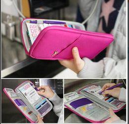 Wholesale Pouch Wallet Travel Journey Fabric Passport ID Card Holder Case Cover Wallet Purse Organizer Bag Makeup Bag LB2
