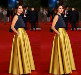 High Waist Celebrity Skirt For Women Floor Length Long Skirt Satin Gold Formal Skirt For Women Evening Prom Dresses Without The Top
