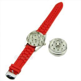 1PC Watch Shape Grinder Rotating Wheel Grinding Tobacco Cigarette Crusher