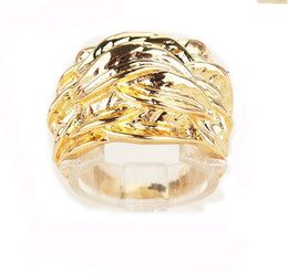 Birthday Valentine's Gift For Women Men Yellow Environmental 18k Gold Filled Size 8.5 Ring Jewelry