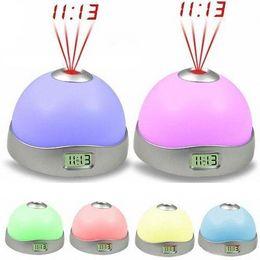 Promotion lumière magique étoile 7 couleurs LED Change Star Night Light Magic Projecteur Rétro-éclairage Horloge Lucky