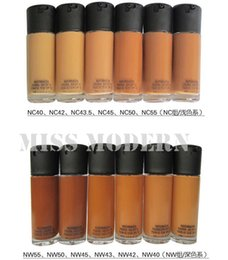 Wholesale Professional Makeup Matchmaster Foundation SPF15 Liquid Makeup NC NW Color OEM LOGO ml DHL