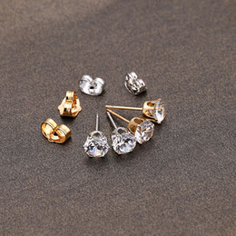 Wholesale Fashion Hot Clear Crystal Rhinestone Crown Ear Stud Earring K Platinum Plated Jewelry Brincos Earrings For Women Best Gift J0006