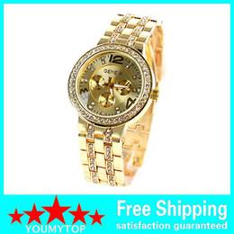 2015 Geneva Watch Fashion Metal Quartz wrist watches for Men Women Unisex luxury watches Geneva Crystal Watches
