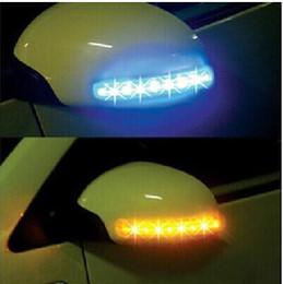 Coche espejo decorativo en Línea-Envío libre de Car decorativos luces de ambiente de luz LED intermitentes luces del espejo de coche bombillas retrovisores luces LED lámparas venta DC12v superior