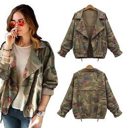 Wholesale-Women Camo Jacket Desert Camouflage Coat Utility Outdoor Coat