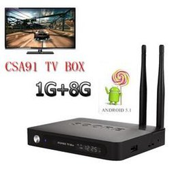 Wholesale New arrive Octa Core Android TV Box CSA91 RK3368 GB GB Android Kodi K Media Player Web TV Box DHL