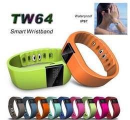 Mi bracelet de bande à vendre-supérieure Tw64 Smartband intelligent bracelet Wristband Fitness Tracker Bluetooth 4.0 Fitbit Montre flex pour ios android mieux que la bande mi