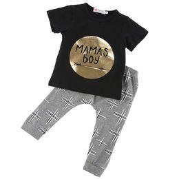 Wholesale 2016 M Toddler Baby Infant Mamas Boys Jumpsuit Outfit Sets Romper Newborn UK sets