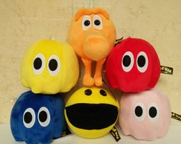 Wholesale 2015 New Movie plush toy with tag and lable Pac Man q bert Stuffed Animals doll cm styles baby gift