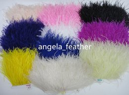 Free shipping Wholesale Ostrich Feather Trims 10yards  Lot 12-15cm color Pink Ostrich Feather Ribbons Ostrich Feather Fringe