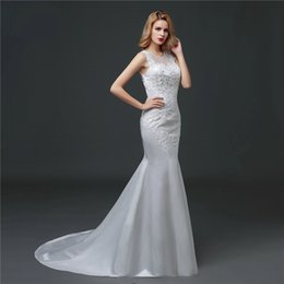 Shanghai Story Mermaid Wedding Dresses Full Lace Bridal Gown with Zip Appliqued Wedding Gowns Floor Length