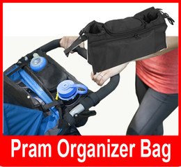 Wholesale Hanging Stroller Tray Kids Baby Console Pram Organizer Bag Bottle Cup Basket Pushchair By Holder Mom Accessory