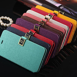 D word buckle Oracle lines case with cards slots Flip Leather Case Cover Credit Card Holder Deluxe D Button for iphone6 4.7