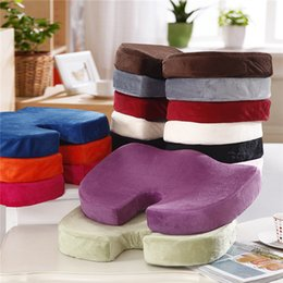 Wholesale Healthy Beautiful Buttock Memory Seat Cushion Soft Thicken Comfortable Car Chair Office Home Seats Massage Cushion
