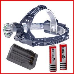 K417 2000 Lumen Headlight Head light CREE T6 LED Headlamp Head light Lamp For Outdoor Sport +2 18650 battery+AC Charger