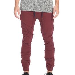 2016NEW Designer Mens Harem Joggers Sweatpants Elastic Cuff Drop Crotch Drawstring Biker Joggers Pants For Men Black Red G