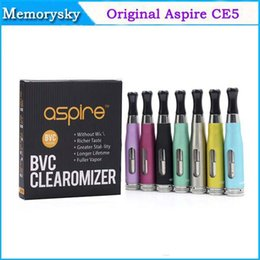 Wholesale Original Aspire CE5S BVC Clearomizer CE5 S BVC Atomizer ml Bottom Dual Coil Tank rebuildable Atomizer For eGo Thread Battery