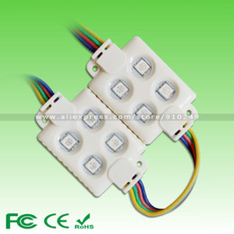 Wholesale Super Bright DC12V W LED RGB Gold Wire SMD5050 LED Chip Colors Change Injection Waterproof Store Company Bank LED Module