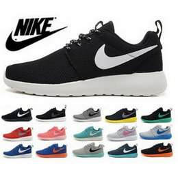 2016 Original Nike Roshe Run Running Shoes Men Women shoes,Male Girl Mesh Roshe Run Athletic Rosherun Black White Green Sport Sneakers 36-45