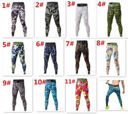 hot jogging Trousers Camouflage pants compression outdoor pants tights Running camo quick dry Base Layer fitness D611
