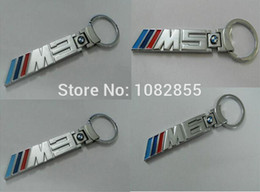Wholesale Automobiles Motorcycles Other Hot New Car Styling M M3 M5 M6 metal badge emblem emblems badges keychain key chain logo with