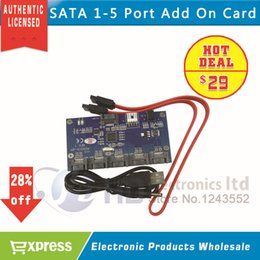 Wholesale-Free Shipping---2015 Hot Sales 1-5 Sata Port Multiplier Compatible with Sata I and Sata II