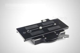 Plates-formes de caméra pour dslr en Ligne-Gros-Livraison GRATUITE LanParte Tripod Quick Release Plate V2 QRP-02 pour VCT-14 Plate 15mm Rod Rig DSLR caméra vidéo 5D 5D2 7D D700