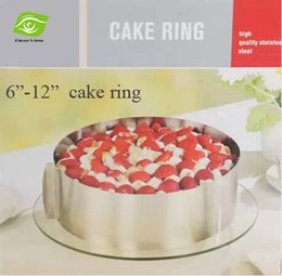 Wholesale Good Quality quot quot Stainless Steel Cake Mould Adjustable Mousse Ring Expandable Baking Tool Set Kitchen Tools Gift Box Packing dandys