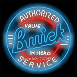 Wholesale Authorized Buickk Neon Sign Handcrafted Neon Bulbs Advertising Custom Design Gifts Real Glass Tube Store Display Art Sign x23